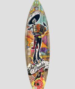 Tabla de surf decorativa bandido, pertenece a la colección tattoo mexicano.